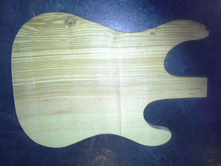 Stratocaster Guitar Food Presentation Board. Ash