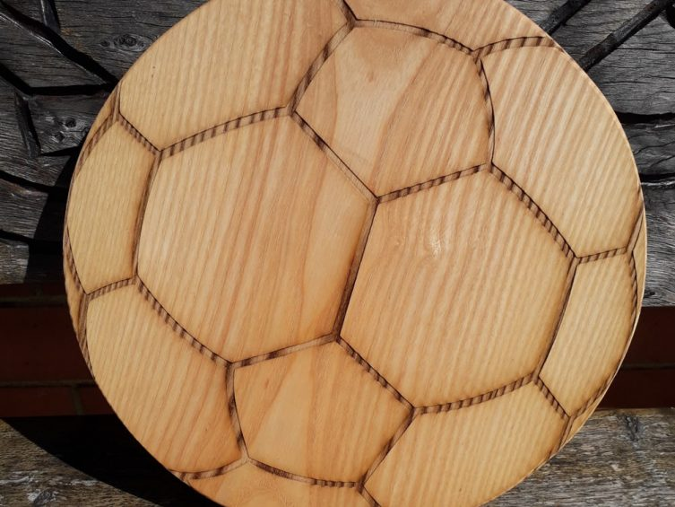 Football Chopping Board Ash