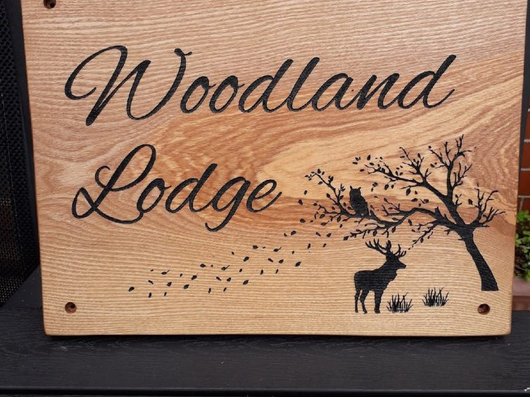 Bespoke Personalised House Sign Oak